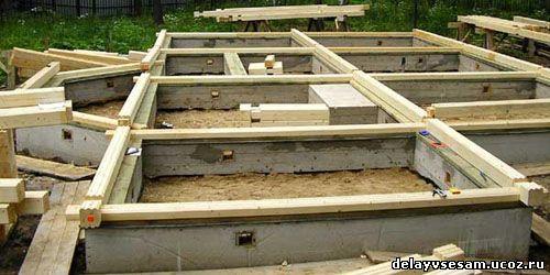 Как правильно заложить фундамент под дом?