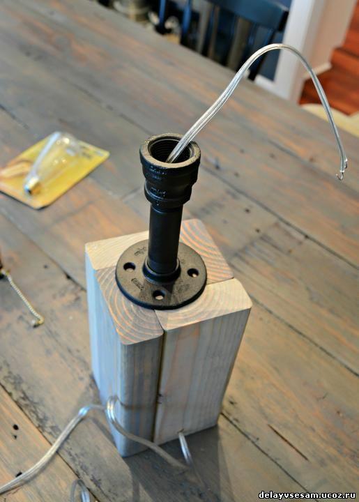 Как сделать настольную лампу