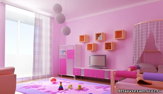 Цвет обоев в детскую комнату